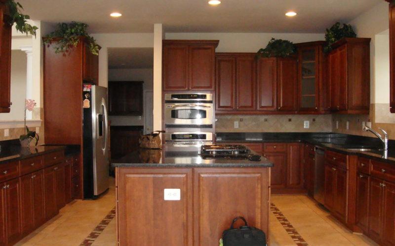 How Do You Lighten Dark Stained Cabinets Kitchen